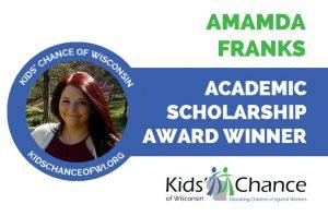 kidschanceofwisconsin-scholarship-award-amanda-franks