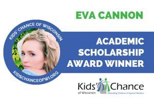 kidschanceofwisconsin-scholarship-awarded-eva-cannon